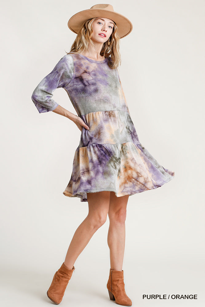 Tie Dyed Tiered Dress