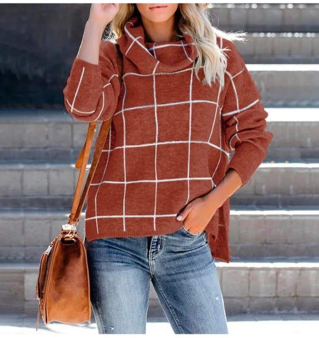 Grid Pullover Sweater