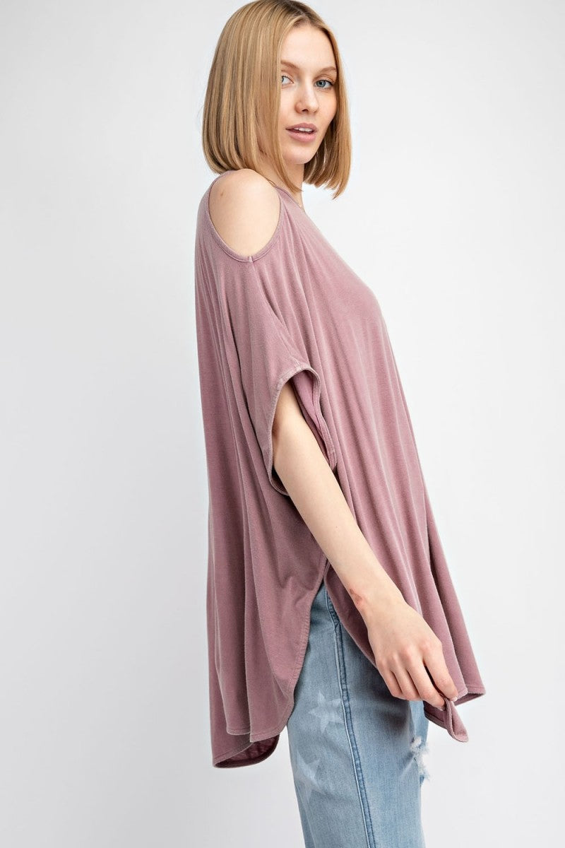 Cold Shoulder Oversized Knit