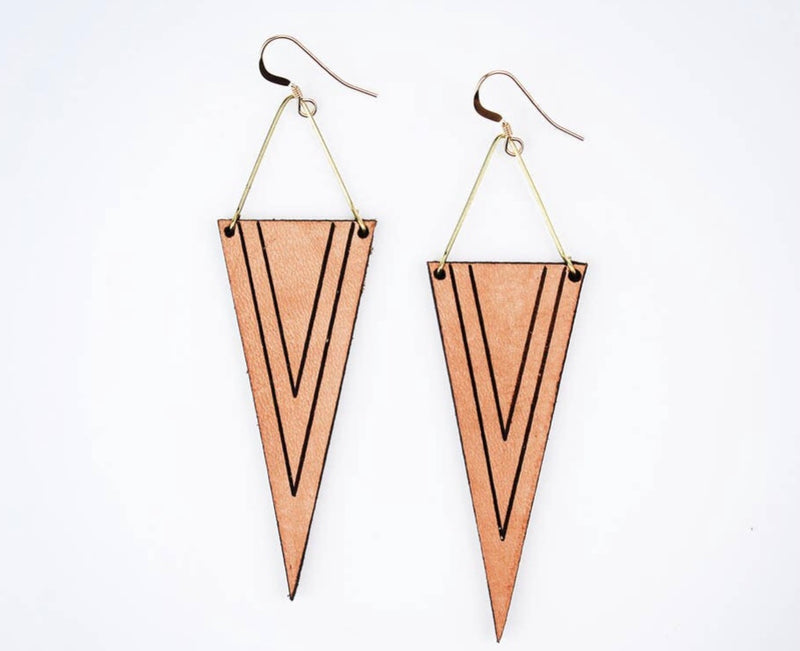Handmade Leather Earrings