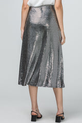 Metallic Midi Skirt