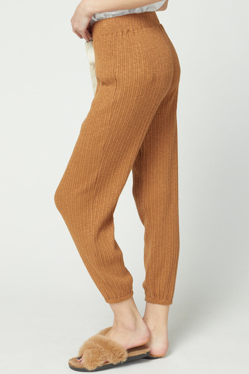 Ribbed High Waisted Joggers