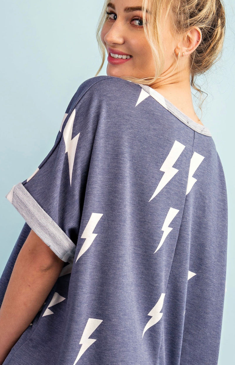 Thunderbolt Shortsleeved Top