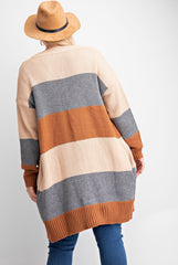 Curvy Colorblock Cardigan