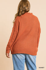Curvy Cableknit Sweater
