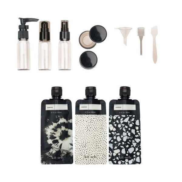 Ultimate Travel 11pc Set - Black & Ivory