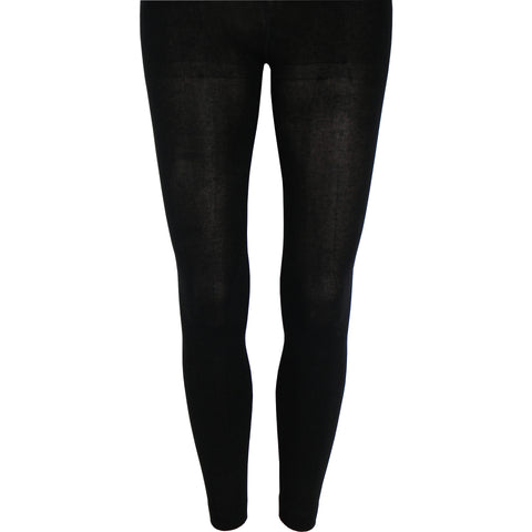 Cotton Leggings in Black