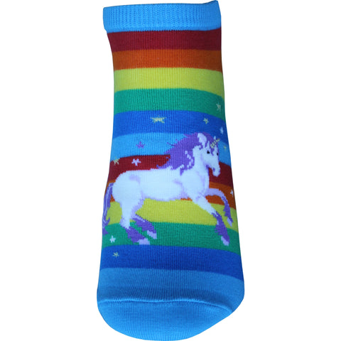 Unicorn Ankle Socks in Rainbow