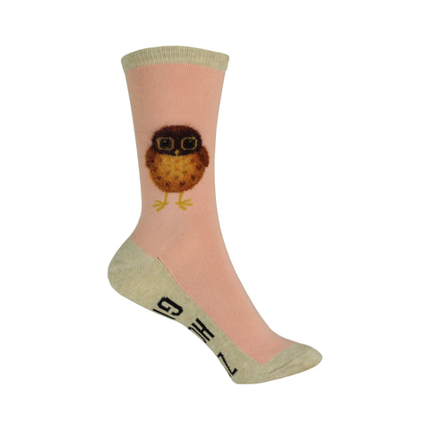 Zero Hoots Given Crew Socks in Blush