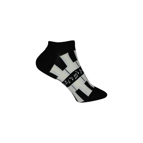 Tickle the Ivories Ankle Socks in White