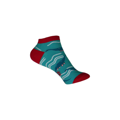 Sockness Monster Ankle Socks in Blue