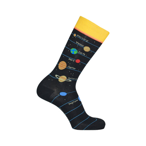 Planets Crew Socks in Black