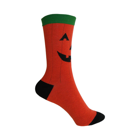 Pumpkin Crew Socks in Orange