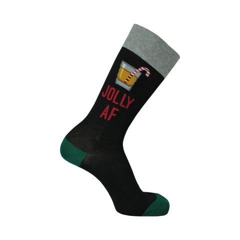 Jolly AF Crew Socks in Black