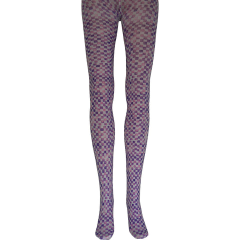 Chicklets Tights in Purple and Pink