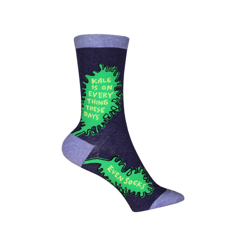 Kale Crew Socks in Purple