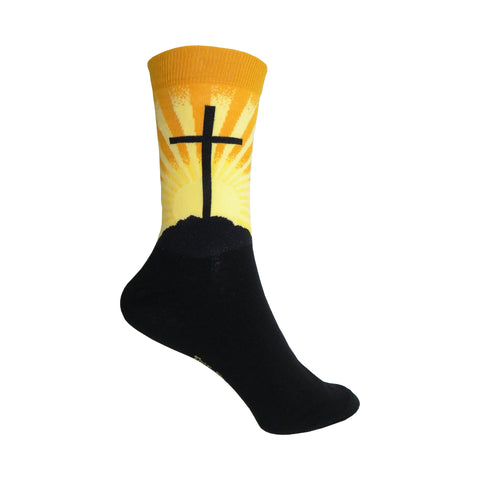Cross Crew Socks in Yellow and Black