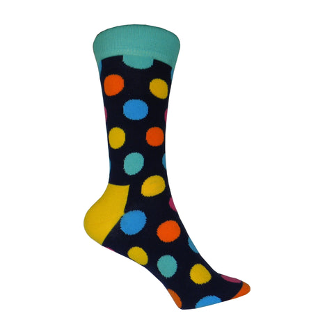 Big Dot Crew Socks in Blue
