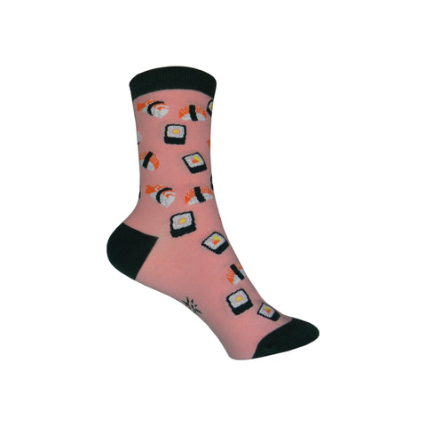 Sushi Crew Socks in Peach