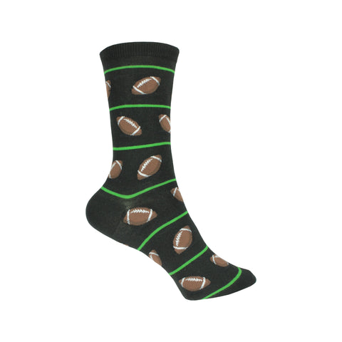 Football Crew Socks in Black