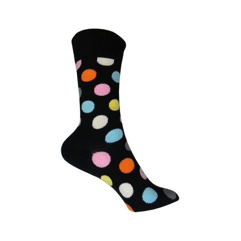 Big Dot Crew Socks in Black