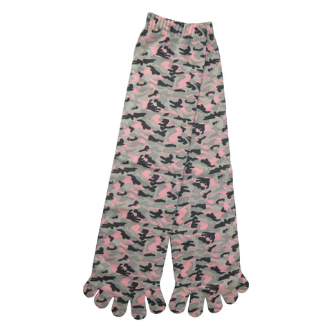 Camouflage Toe Mid Calf Socks in Pink, Gray, and Black