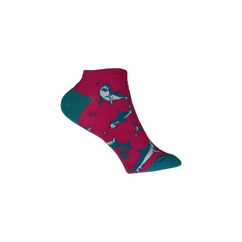 Sharks Ankle Socks in Pink