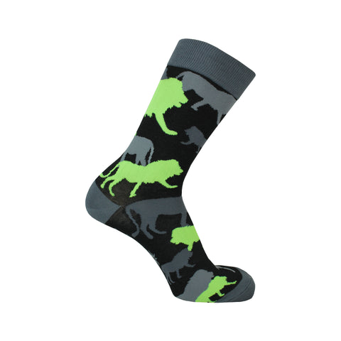 Camo of Kings Crew Socks in Black