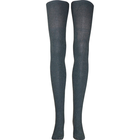 Cable Over The Knee Socks in Charcoal Gray