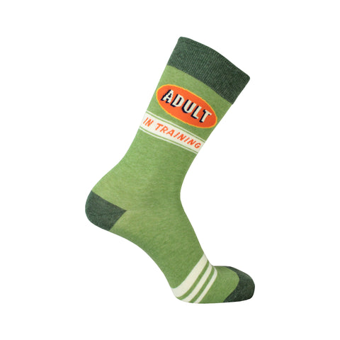 Adult in Training Crew Socks in Green