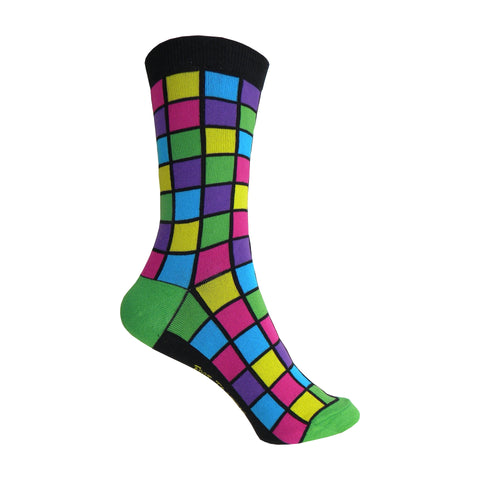 Mosaic Crew Socks in Green