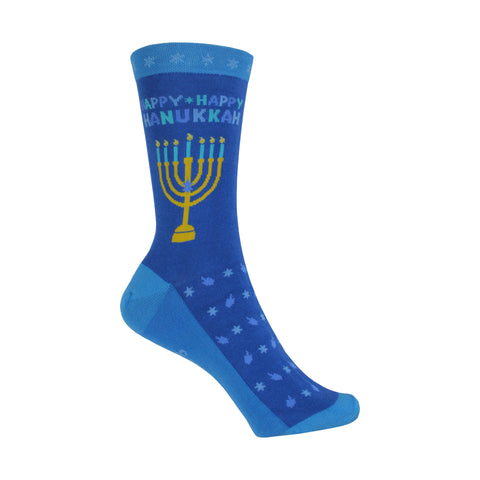 Hanukkah Crew Socks in Blue