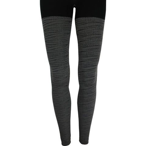 Bamboo Tiger Leggings in Gray