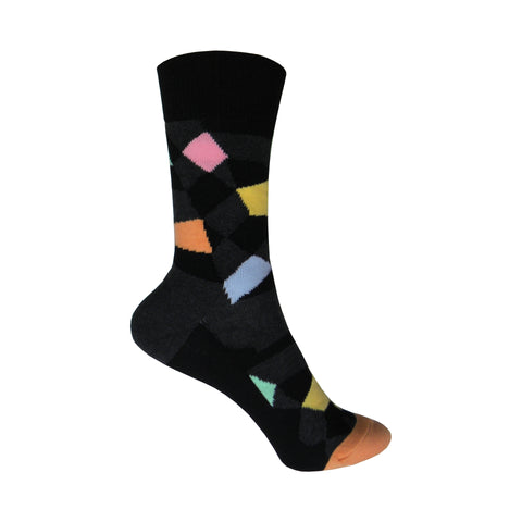 Random Cotton Crew Socks in Charcoal