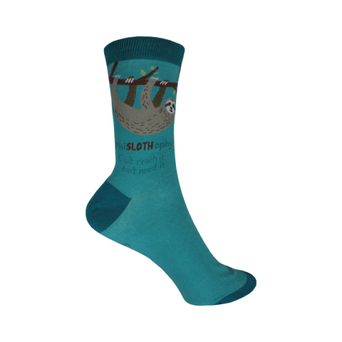 Sloth Crew Socks in Blue
