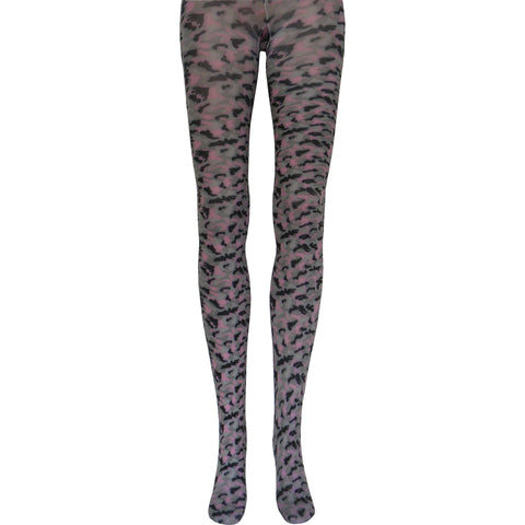 Camouflage Tights in Pink, Gray, and Black