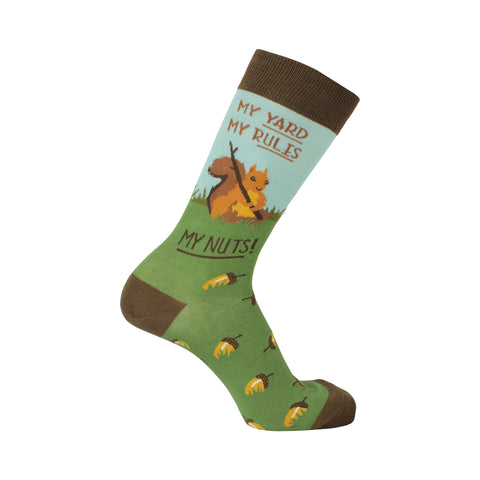 Squirrel Crew Socks in Brown