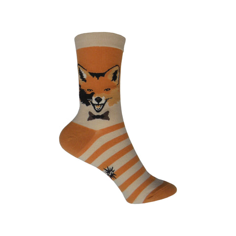 Mr. Fox Crew Socks in Orange