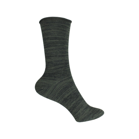 Space Dye Crew Socks in Black