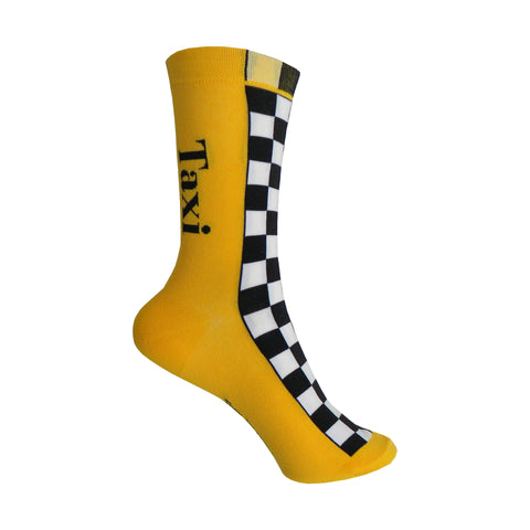 Taxi Crew Socks in Yellow