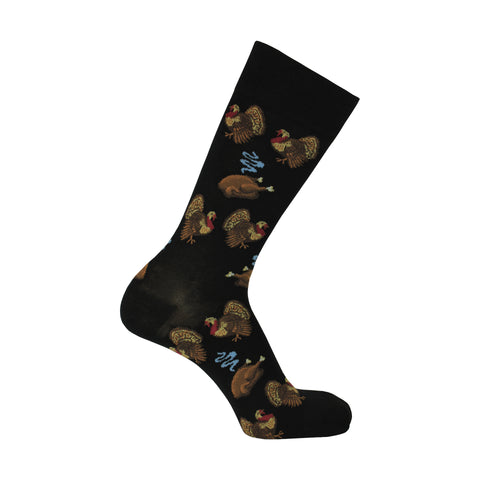 Turkey Day Crew Socks in Black
