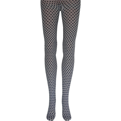 Polka Dots Tights in Black and White