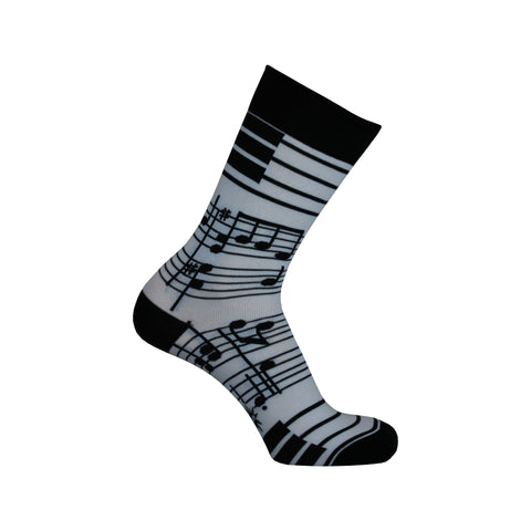 Footnotes Crew Socks in Black and White