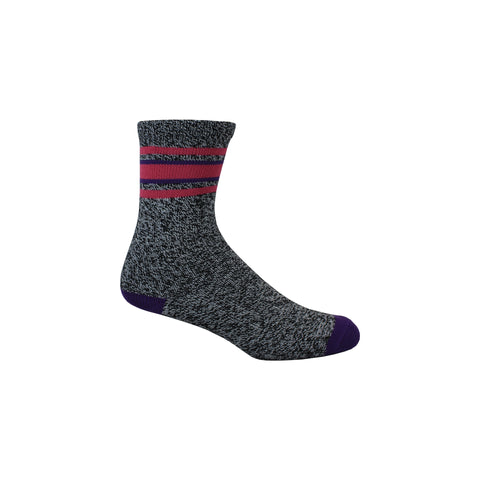 Soft Stripe Crew Socks in Black and White