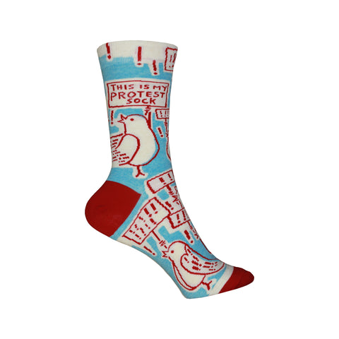 Protest Crew Socks in Blue and Red