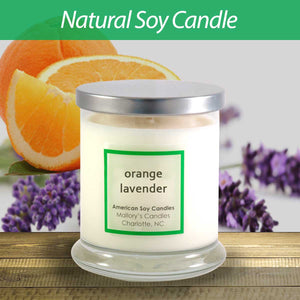 Mallory Candle Co Orange Lavender Natural Soy Candle