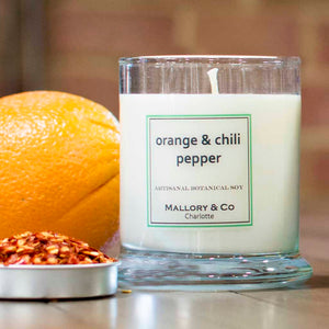 Orange Chili Pepper Soy Candle