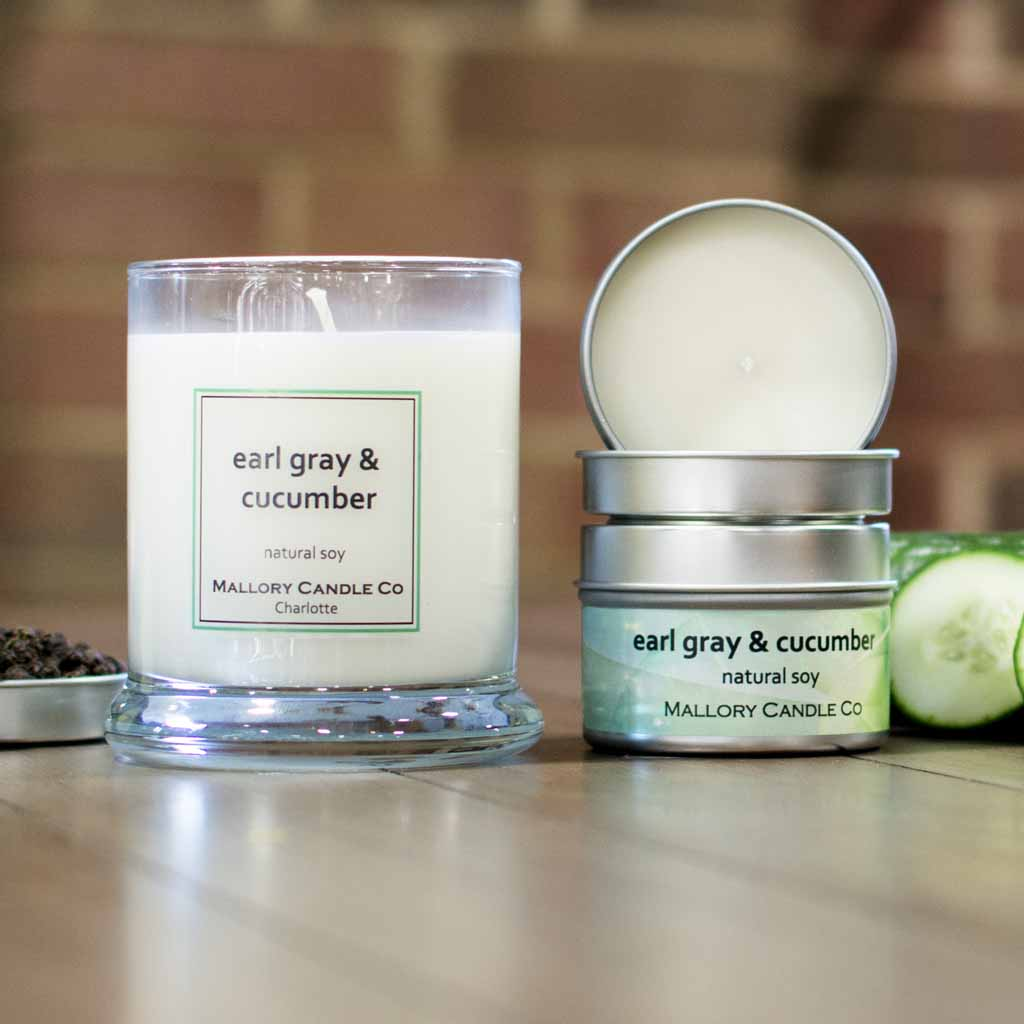 Earl Gray & Cucumber Soy Candle