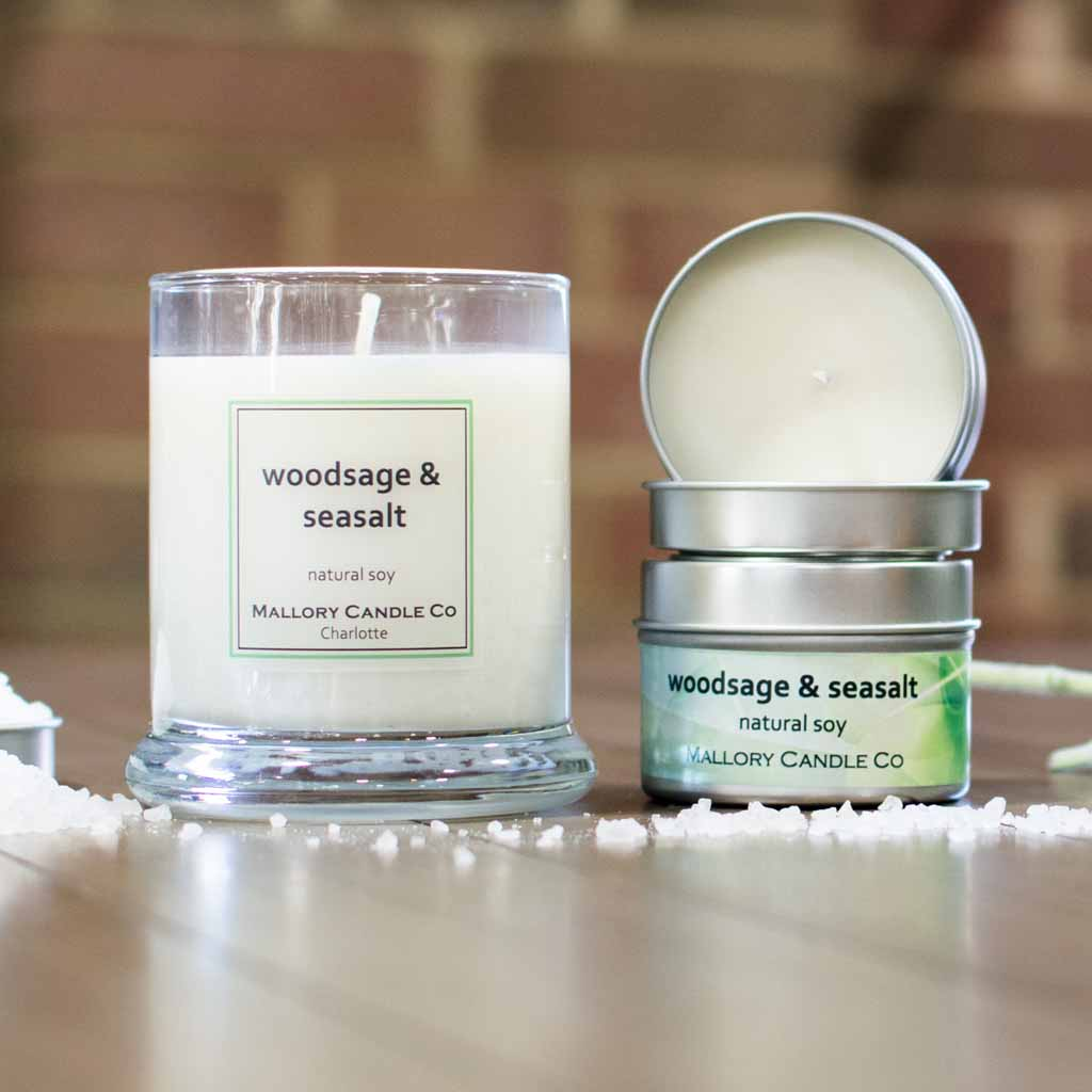 Woodsage & Seasalt Soy Candle