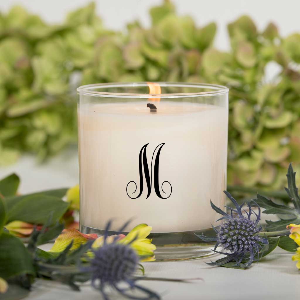 Monogram Candle Script - One Letter